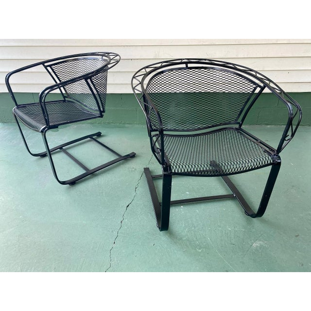 Metal 1960s Mid Century Modern Wrought Iron Rocker Chairs - a Pair For Sale - Image 7 of 7