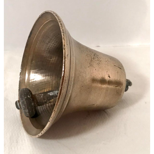 Mid 20th Century Vintage Brass Bell For Sale - Image 4 of 7
