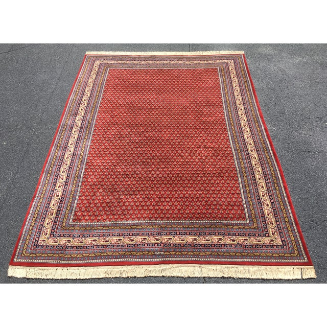 1990s Handknotted Mir Area Rug- 8′7″ × 11′11″ For Sale - Image 13 of 13