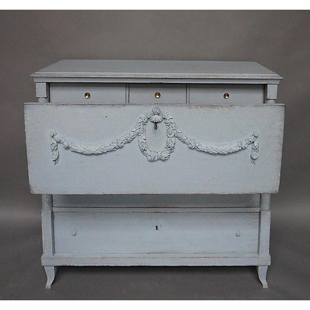 Antique Swedish Chest of Drawers With Classical Swags - Image 7 of 8