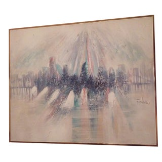 1970's Ferranta Abstract Cityscape For Sale