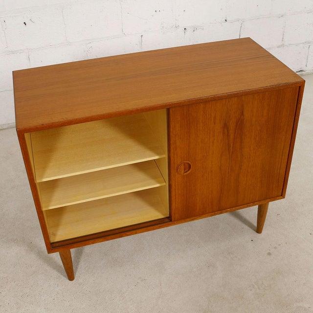 Petite Danish Modern Teak Bar Cabinet - Image 3 of 10