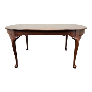 Henkel Harris Solid Mahogany Queen Anne Dining Table 2211 Finish 29 For Sale