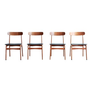 Vintage Mid Century Schionning +Elgaard #12 Teak Dining Chairs- Set of 4 For Sale