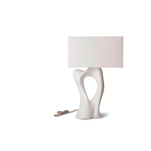 Amorph Vesta White Lacquered Table Lamp For Sale - Image 10 of 10