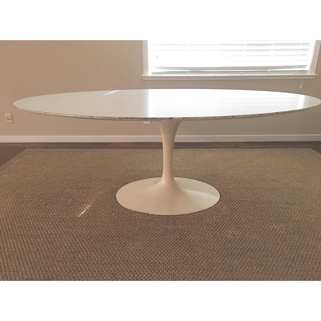 1960's Early Saarinen for Knoll Oval Tulip Dining Table For Sale - Image 11 of 11
