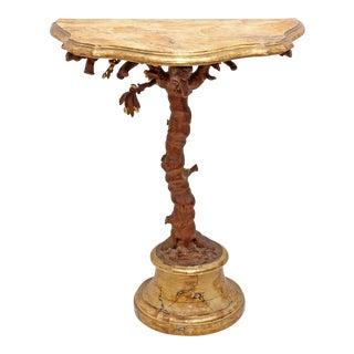 19th Century Italian Demi-Lune Table For Sale