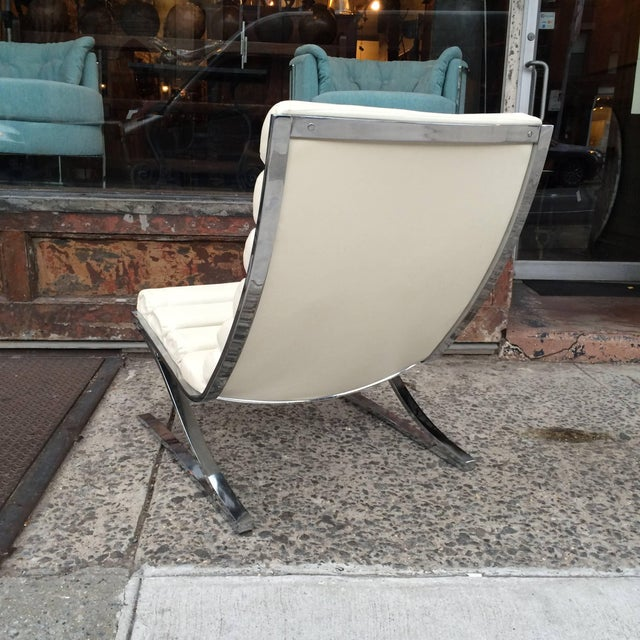 1970s Vintage Design Institute of America Chrome Cantilever Lounge Chairs- A Pair For Sale In New York - Image 6 of 10