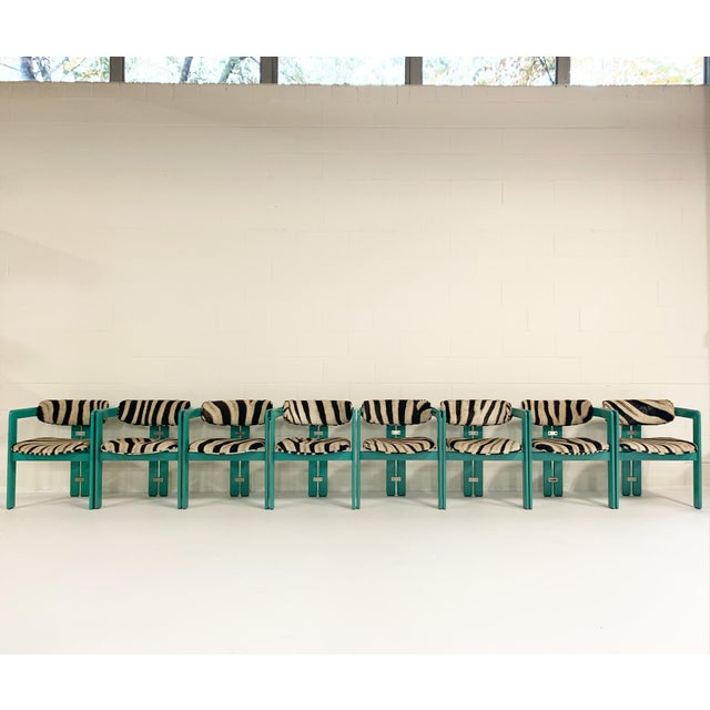 Augusto Savini for Pozzi 'Pamplona' Dining Chairs in Zebra - Set of 8 For Sale - Image 10 of 10