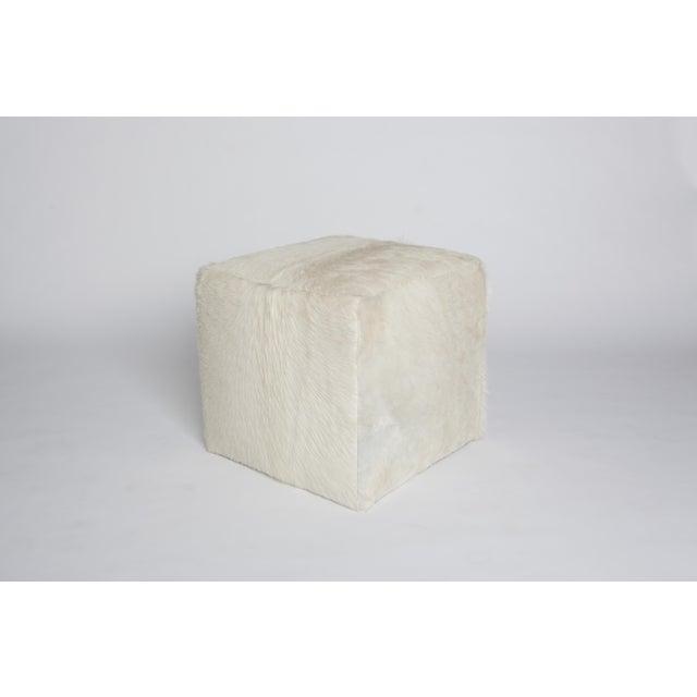 Outstanding Natural White Cube Ottoman Creativecarmelina Interior Chair Design Creativecarmelinacom