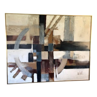 1970s Vintage Lee Reynolds Large Abstract Painting For Sale