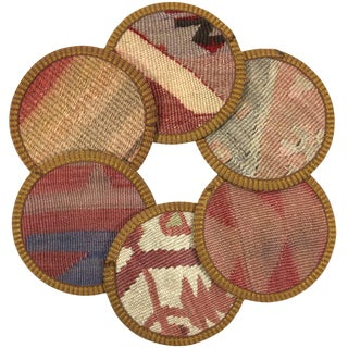 Kilim Coasters Set of 6 | Fesçiler For Sale