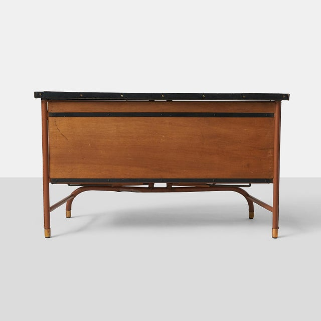 1960s Jacques Quinet Commode in Leather For Sale - Image 5 of 10