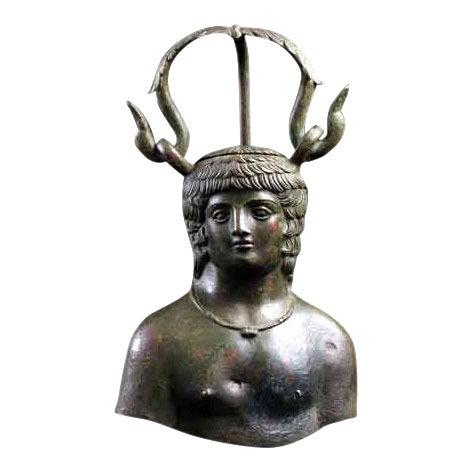 Roman Balsamarium Depicting Antinous For Sale