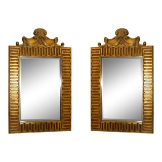 Gilded Greek Key Mirror - a Pair For Sale