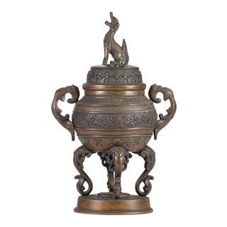 19th Century Japanese Meiji Period Bronze Censer For Sale