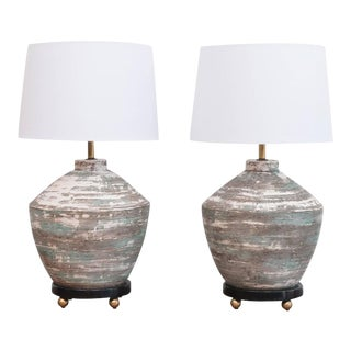 1950s Ceramic Lamps - A Pair For Sale