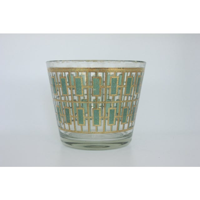 Vintage Culver Green and Gold Ice Bucket - Image 3 of 6