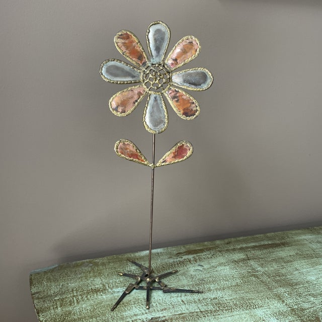 Mid 20th Century Metal Flower Sculpture For Sale In Philadelphia - Image 6 of 6
