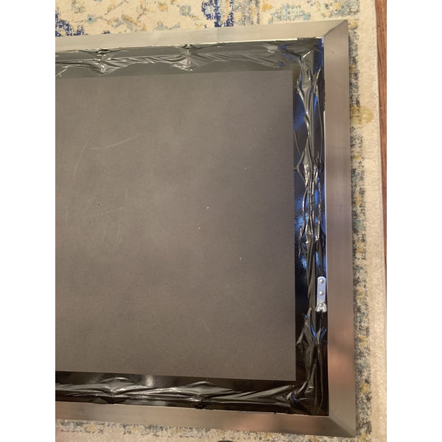 Metal Restoration Hardware Venetian Beaded Mirror For Sale - Image 7 of 11