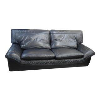 Black Leather Roche Bobois Sofa