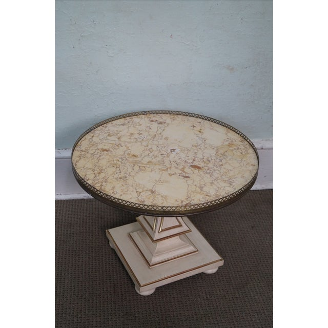 John Widdicomb French-Style Marble Coffee Table - Image 2 of 10
