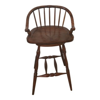 21st Century Theodore Alexander Brown Barstool For Sale