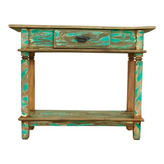 "Reclaimed Peroba Rosa Wood ""Beach House"" Style Console Table"