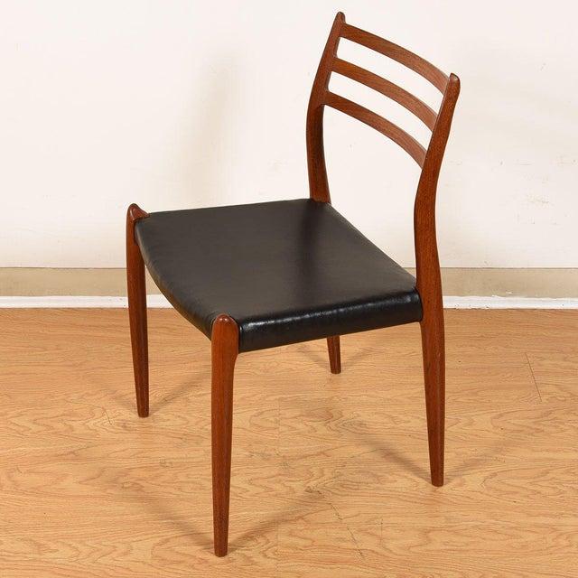 Møller Danish Modern Teak Dining Chairs- Set of 4 For Sale - Image 9 of 10