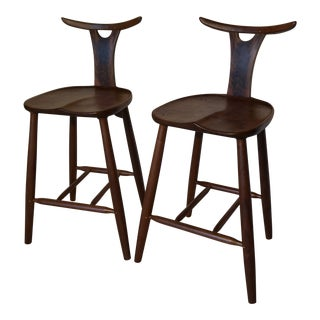 Birds of Feather Bar Stools - A Pair For Sale