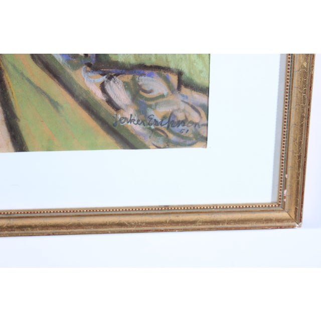 J. Eriksson Road to Summer House Pastel Drawing - Image 3 of 3