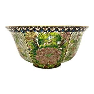 1920s Chinese Plique a Jour Floral Bowl For Sale