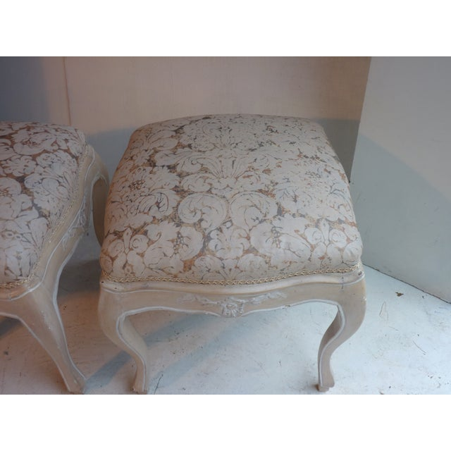 Fortuny Louis XV Footstools -- A Pair For Sale - Image 4 of 5