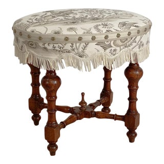 Baroque Oval Stool, Italy 19th Century For Sale