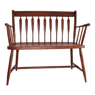 19th Century Hand Crafted Settee For Sale