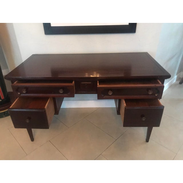 Mid-Century Modern 1960s Mid Century Modern Bassett Furniture Writing Desk For Sale - Image 3 of 7