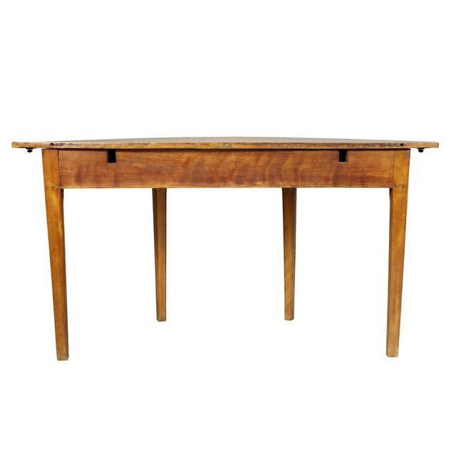 Pair of Neoclassic Birch Demilune Console Tables For Sale - Image 4 of 10