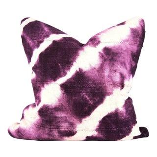 Purple Shibori Mudcloth Pillow For Sale