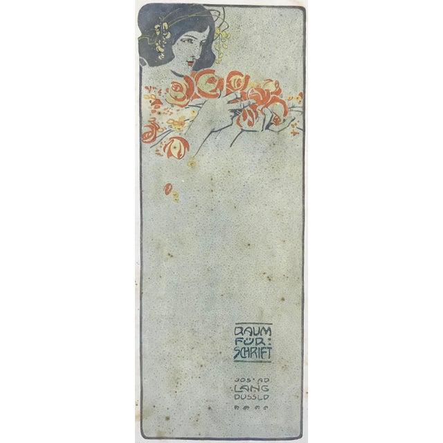 Art Deco 1906 Original German Art Nouveau Poster, Decorator Print, #18, Art Deco Fashion For Sale - Image 3 of 8