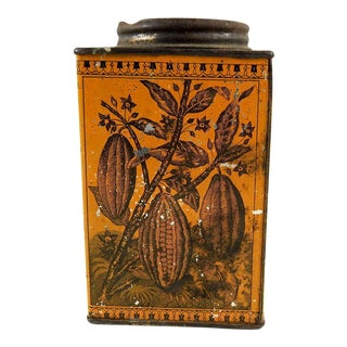 Antique Chocolate Tin For Sale