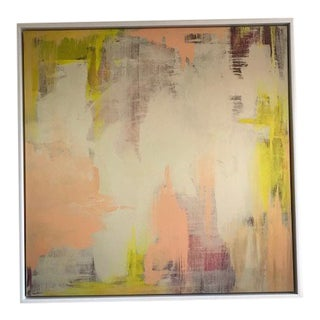 """""""Spring Blush"""" Abstract Painting on Canvas by Linda Colletta For Sale"""