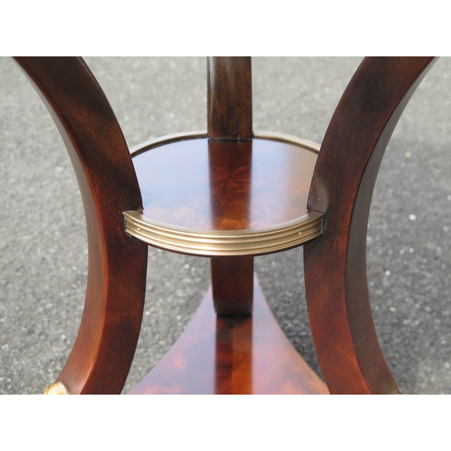 2010s Traditional Theodore Alexander Althorp Round Mahogany Occasional Table For Sale - Image 5 of 11
