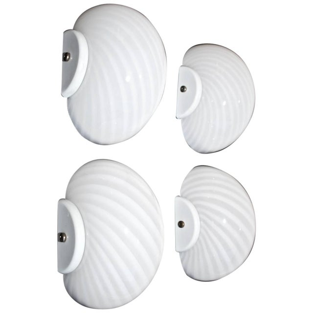 Mid-Century Modern 1970's Murano Sconces - Set of 4 For Sale - Image 3 of 3