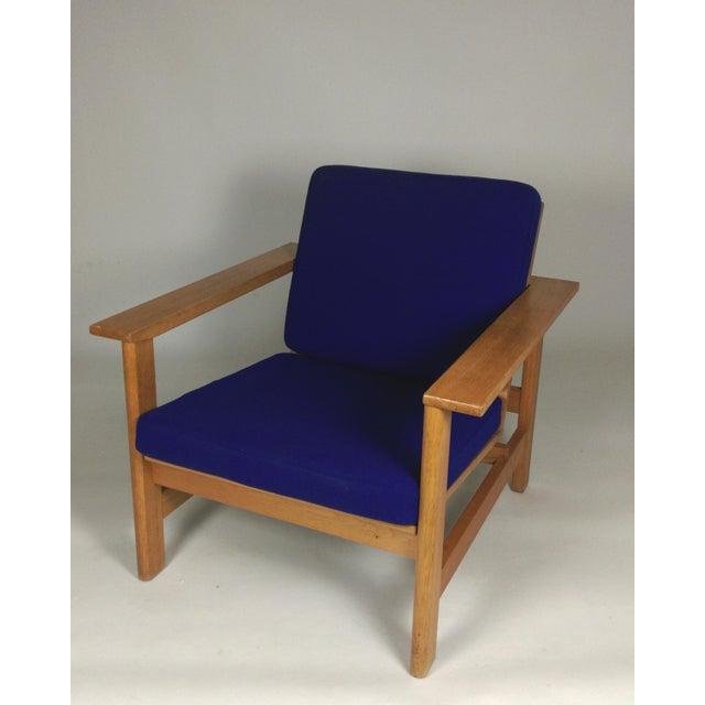 1980s Frederecia Furniture Soren Holst Danish Oak Lounge/Easy Chair For Sale - Image 10 of 10