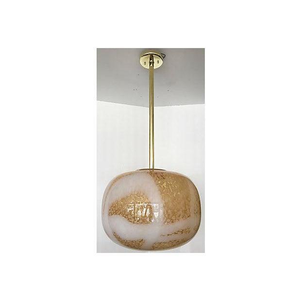Mid century murano glass pendant light chairish mid century murano glass pendant light image 2 of 7 aloadofball Image collections