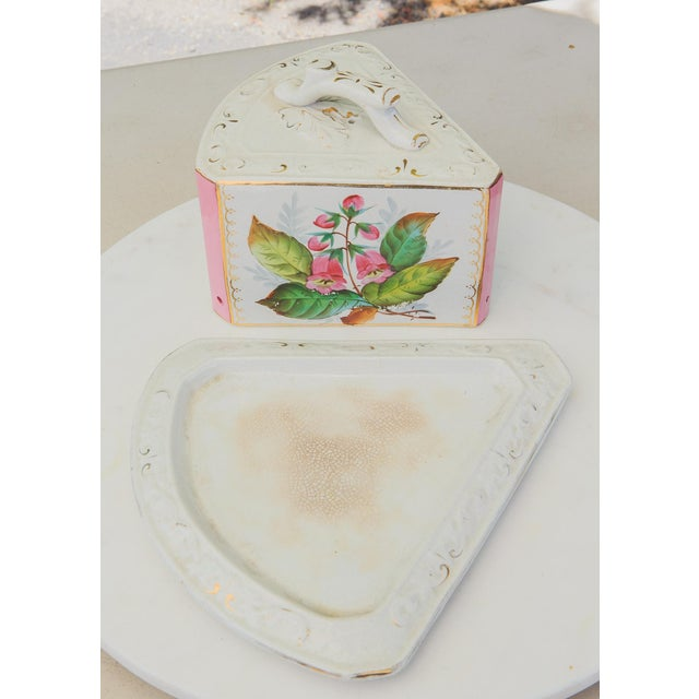 Late 19th Century Antique Porcelain Covered Cheese Keep For Sale - Image 5 of 12