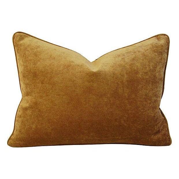 Schumacher Tiger Linen & Velvet Pillows - A Pair - Image 4 of 7
