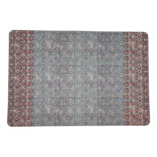 Nicolette Mayer Iznik Turq Red Rectangle Pebble Placemats, Set of 4 For Sale