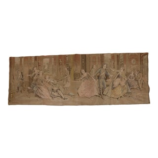 Tapestry Wall Hanging - French Sitting Room Dance Scene For Sale