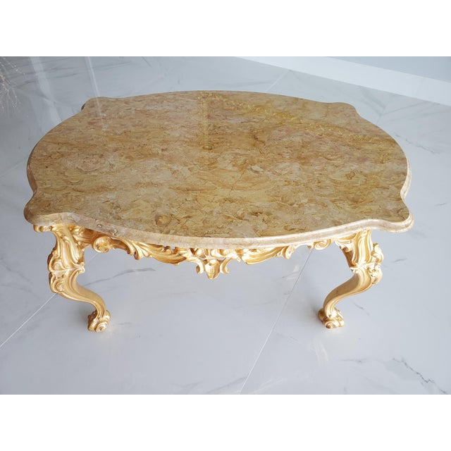 Louis XV/ Baroque Coffee Table For Sale - Image 4 of 5